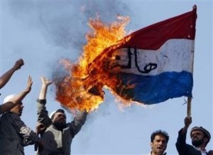 Dutch Flag Burning in Kabul March 21, 2008